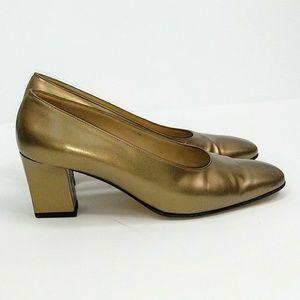Salvatore Ferragamo Bronze Heels